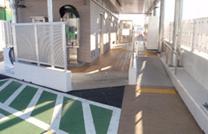 Image of the Komagata Parking Area after improvements