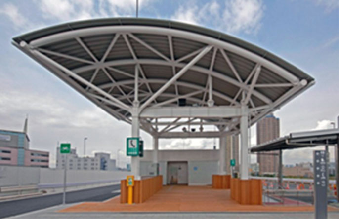 Image of the Ftatsumi No.1 Parking Area after improvements