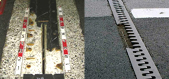 Damaged rubber expansion joints/Damaged steel expansion joints