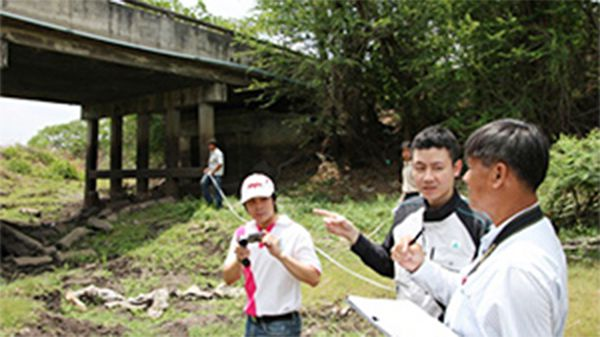 Technical transfer to Thai engineers: Bridge inspection methods